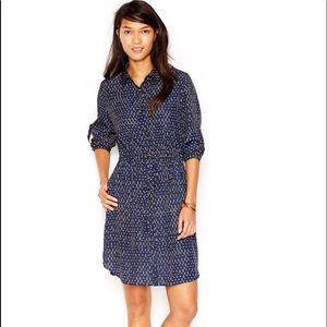 Maison Jules - Polka Dot Shirt Dress - SZ L